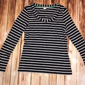 Boden long sleeve tee navy/white size US 10